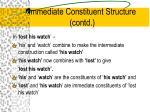 immediate constituent structure contd16