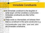 immediate constituents
