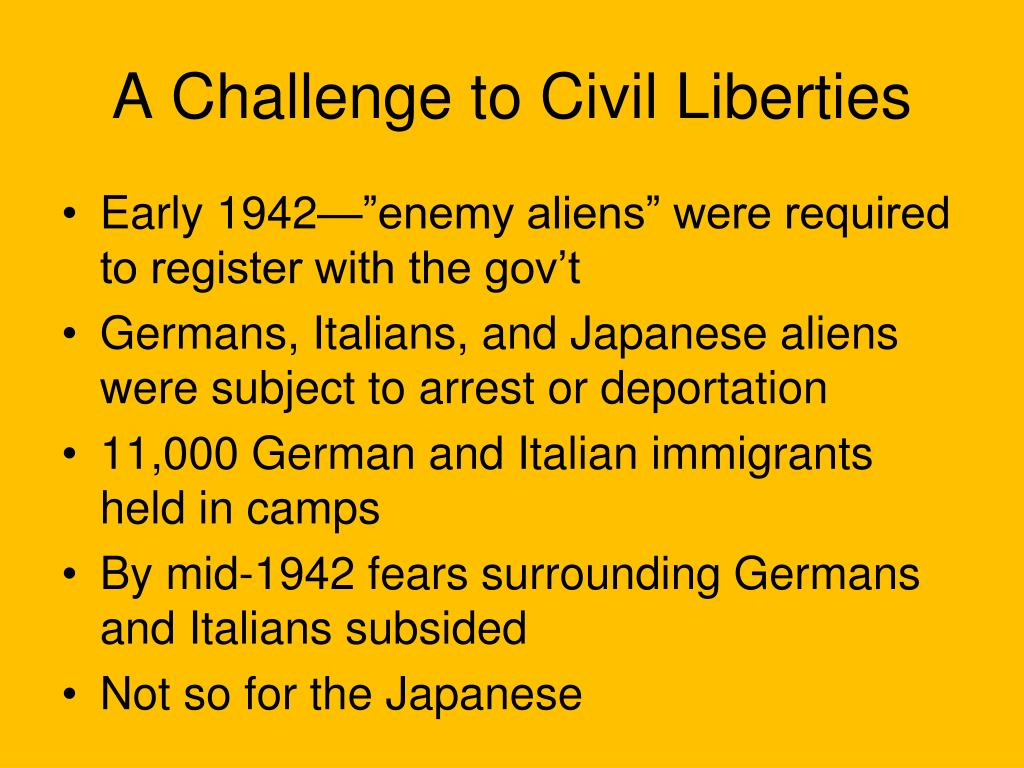 a challenge to civil liberties l.