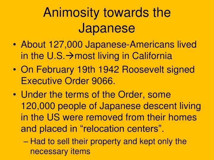 Animosity towards the japanese