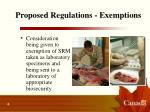 proposed regulations exemptions6