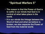 spiritual warfare 513