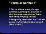 spiritual warfare 521