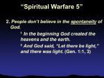 spiritual warfare 522