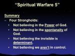 spiritual warfare 527