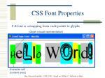 css font properties