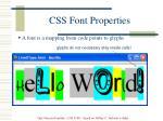 css font properties37