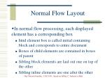 normal flow layout