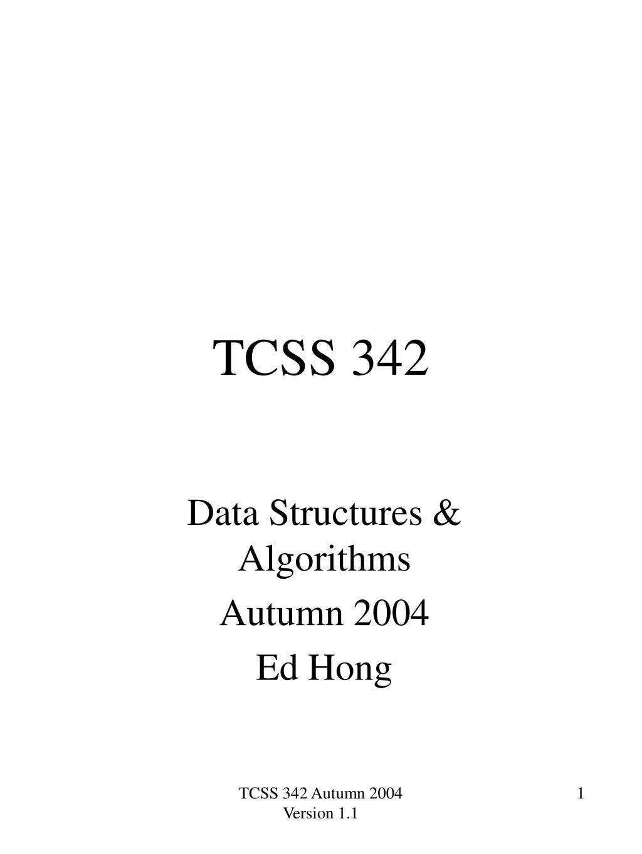 tcss 342 l.