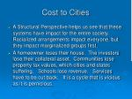cost to cities