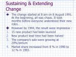 sustaining extending change