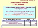 consolidation entries cost method