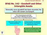 sfas no 142 goodwill and other intangible assets24