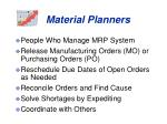 material planners