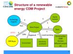 structure of a renewable energy cdm project