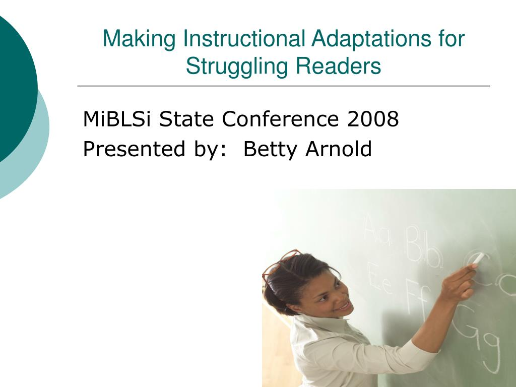 making instructional adaptations for struggling readers l.