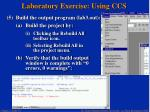 laboratory exercise using ccs30