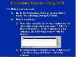 laboratory exercise using ccs33