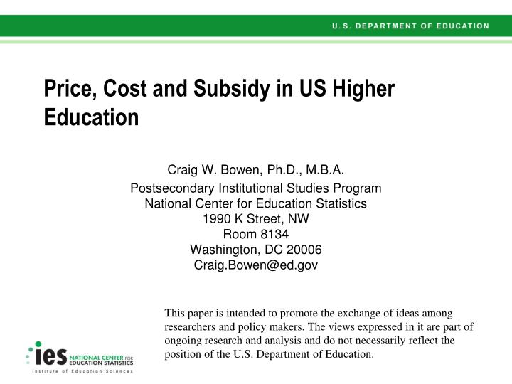 costs of a postsecondary education