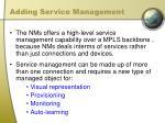 adding service management