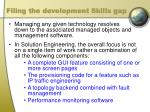 filing the development skills gap