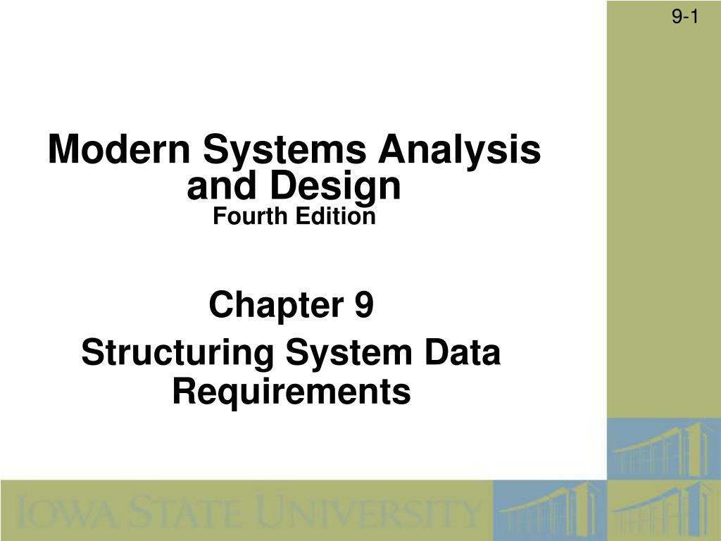 chapter 9 structuring system data requirements l.