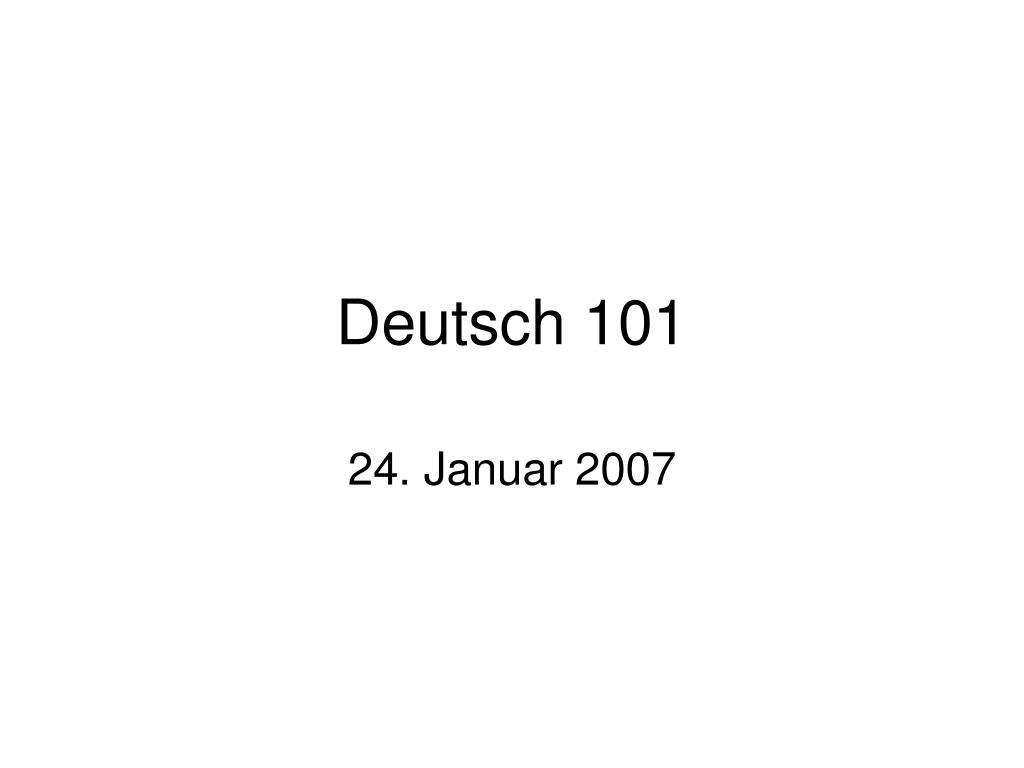 Deutsch 101