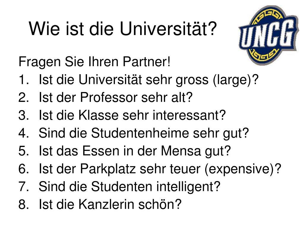 Wie ist die Universität?