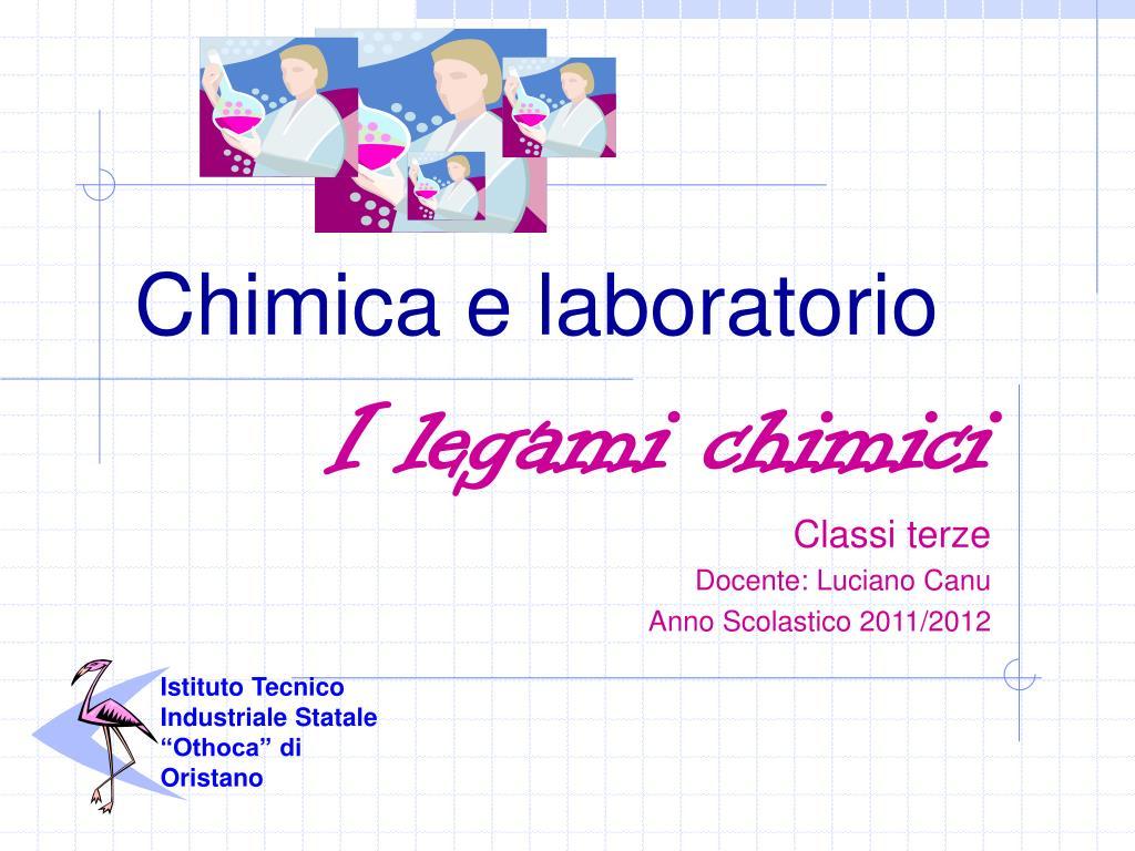 chimica e laboratorio l.