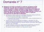 domanda n 7