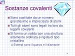 sostanze covalenti