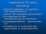 implikationer f r social f r ndring