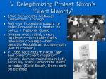 v delegitimizing protest nixon s silent majority