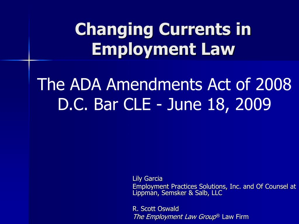 changing currents in employment law l.