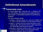 definitional amendments