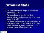 purposes of adaaa