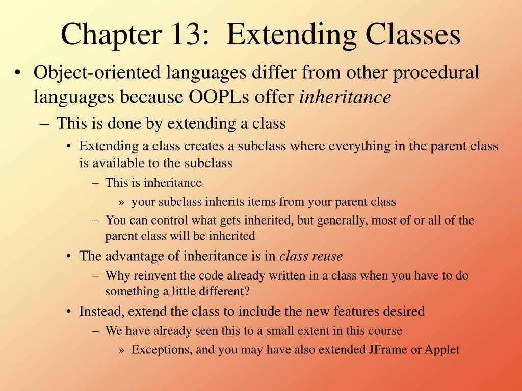 chapter 13 extending classes l.