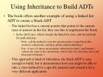 using inheritance to build adts