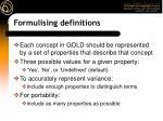 formulising definitions