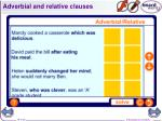 adverbial and relative clauses
