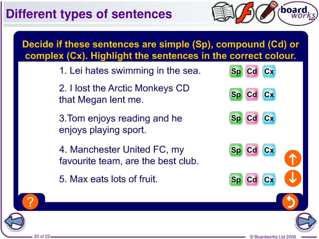different types of sentences Kinds of sentences s-1 revised spring 2010 3 your writing will be more effective if you learn to incorporate different kinds of sentences.