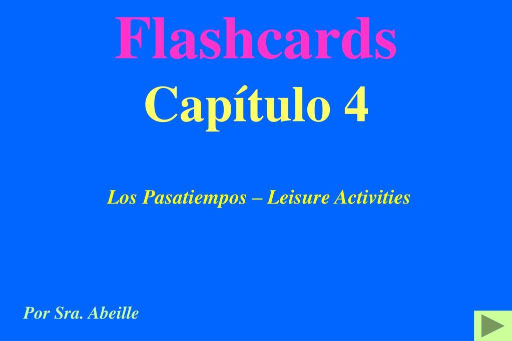 flashcards cap tulo 4 l.