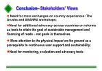 conclusion stakeholders views