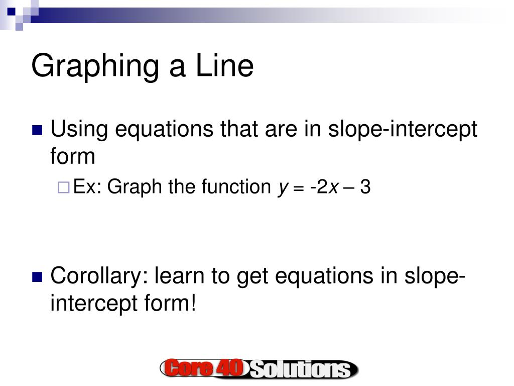 Graphing a Line