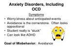 anxiety disorders including ocd