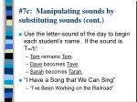 7c manipulating sounds by substituting sounds cont