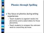 phonics through spelling