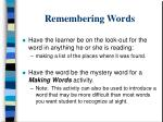 remembering words47