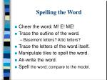 spelling the word