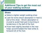 additional tips to get the most out of your walking workout24
